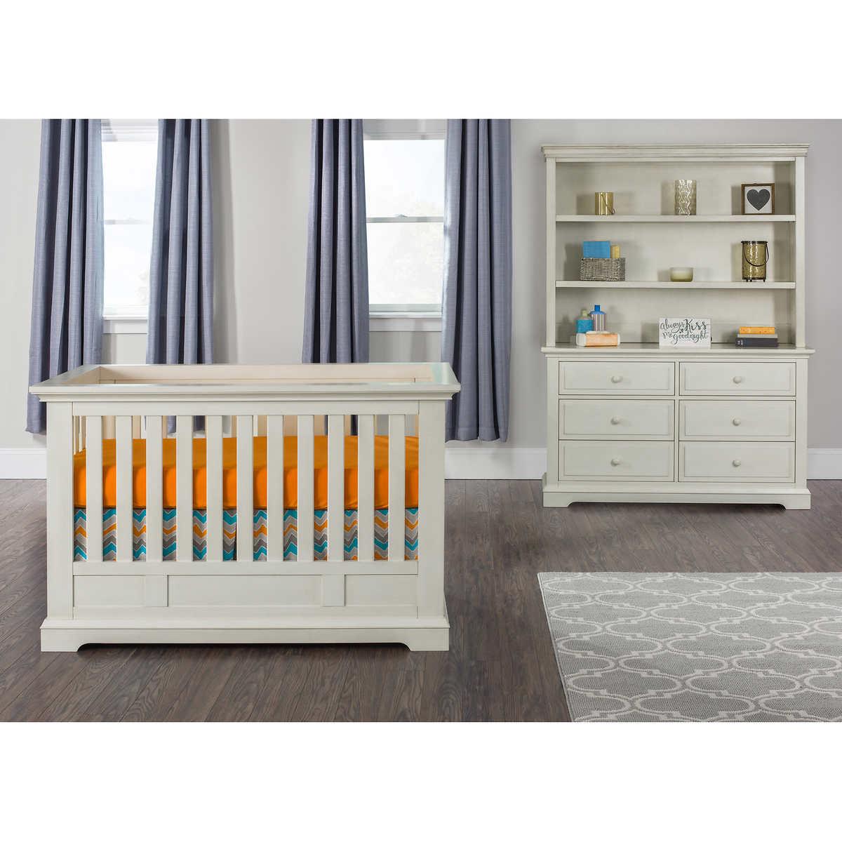 nursery furniture collections  costco - addison euro crib piece nursery collection white