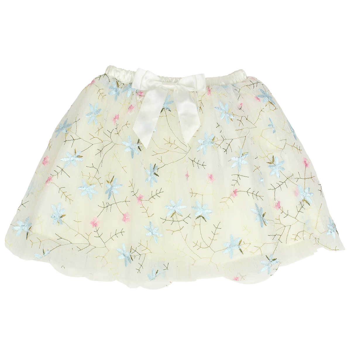 popatu girls tulle skirt floral