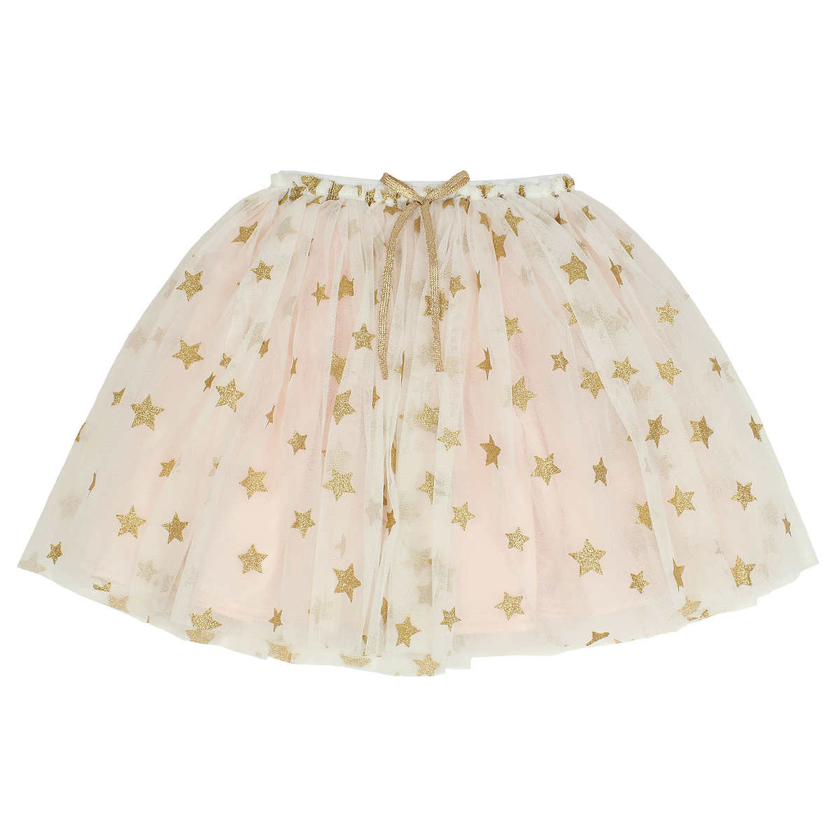 popatu girls tulle skirt rose gold