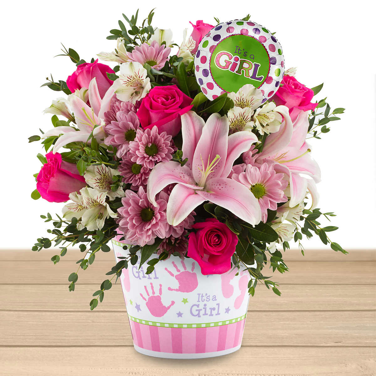 Baby Girl Floral Arrangement