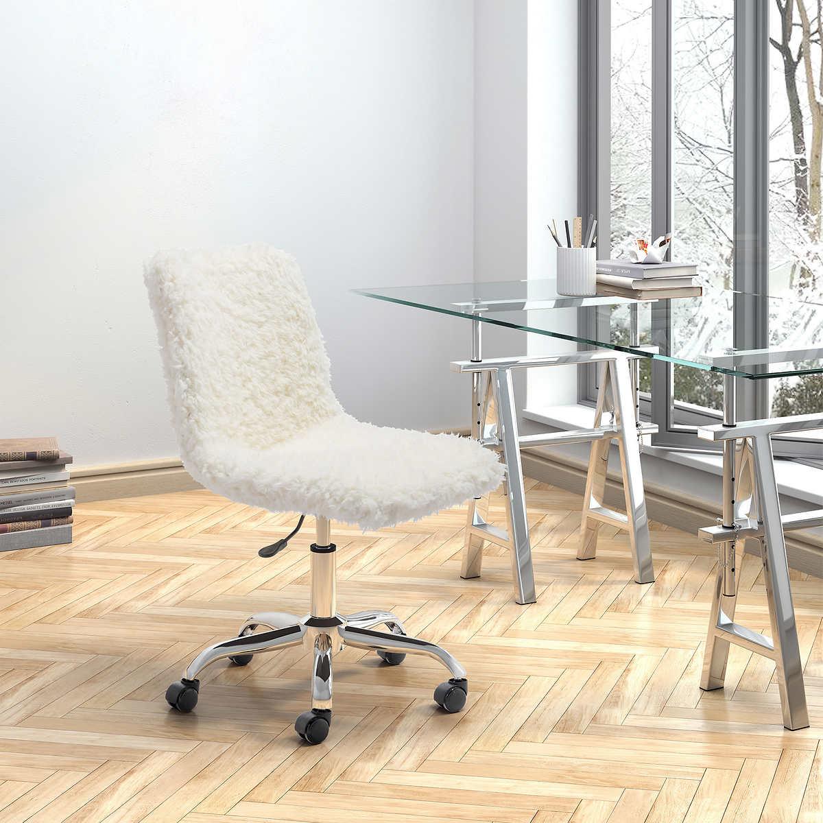 Lola Faux Fur Office Desk Chair