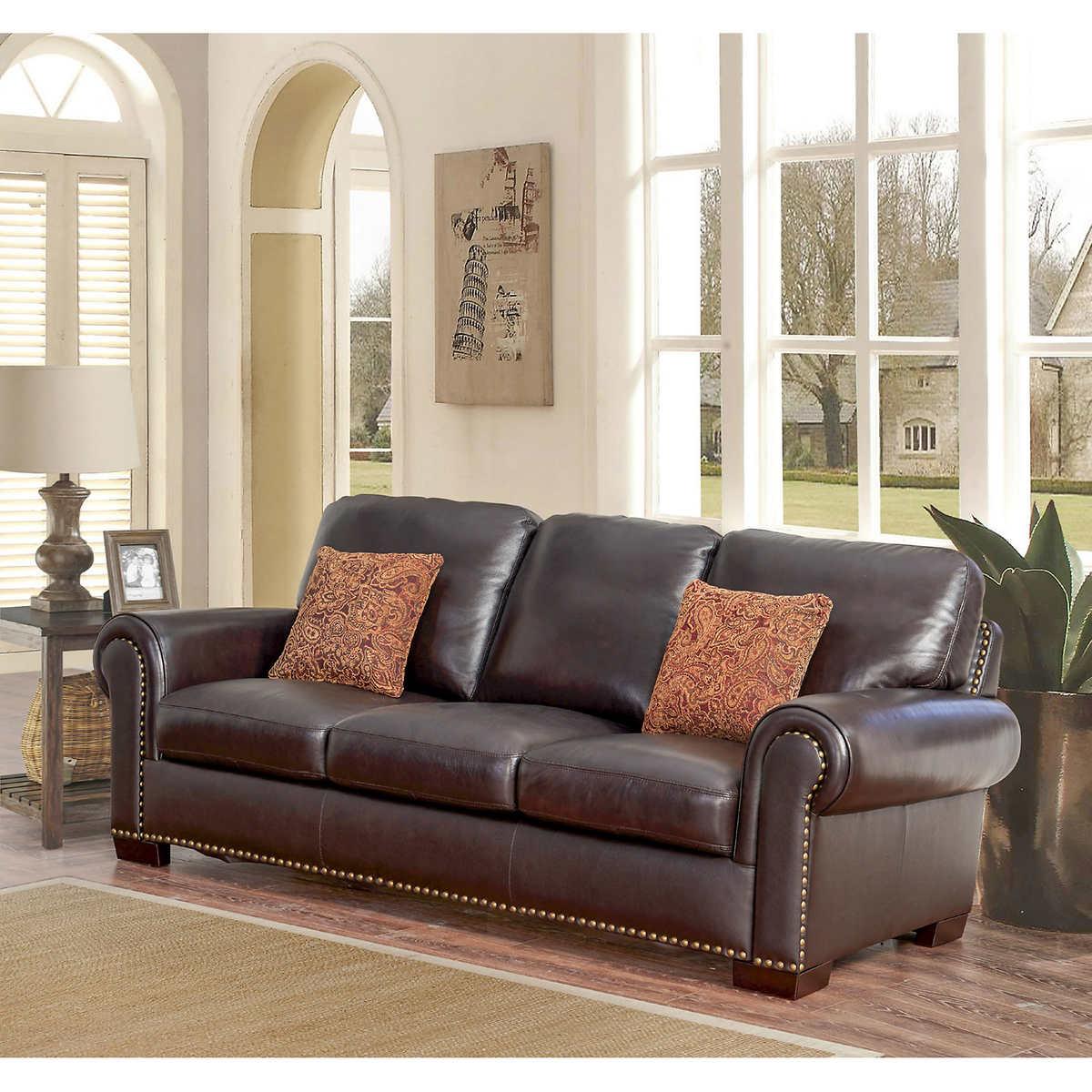 ... Top Grain Leather Sofa. 1 1