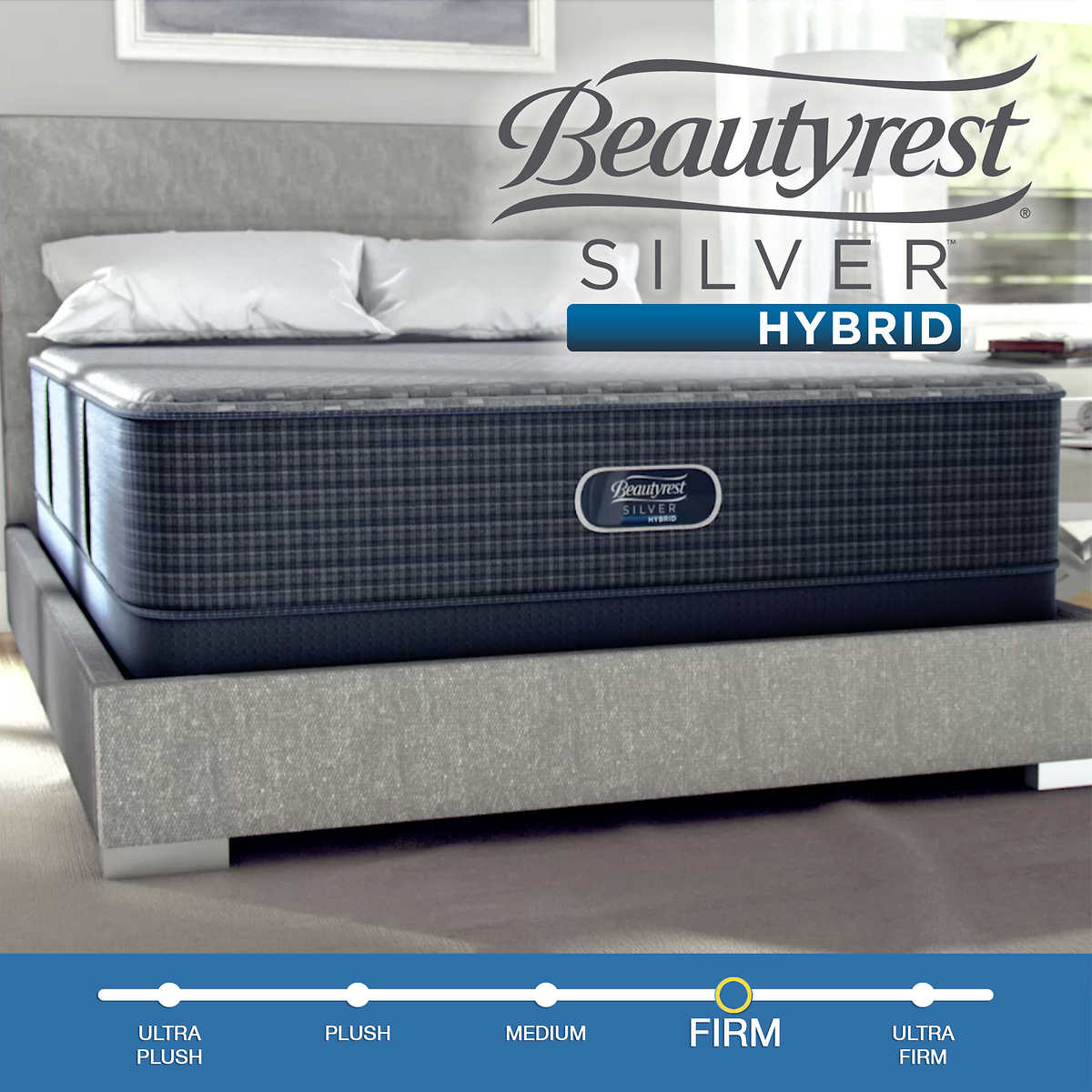 Simmons Beautyrest Romeo 13 Silver Hybrid Luxury Firm Twin Mattress