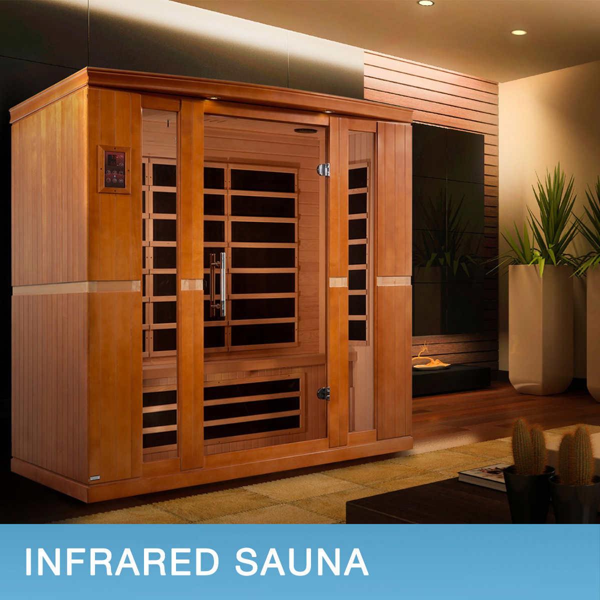 Dynamic Bergamo 4-person Indoor Low EMF FAR Infrared Sauna