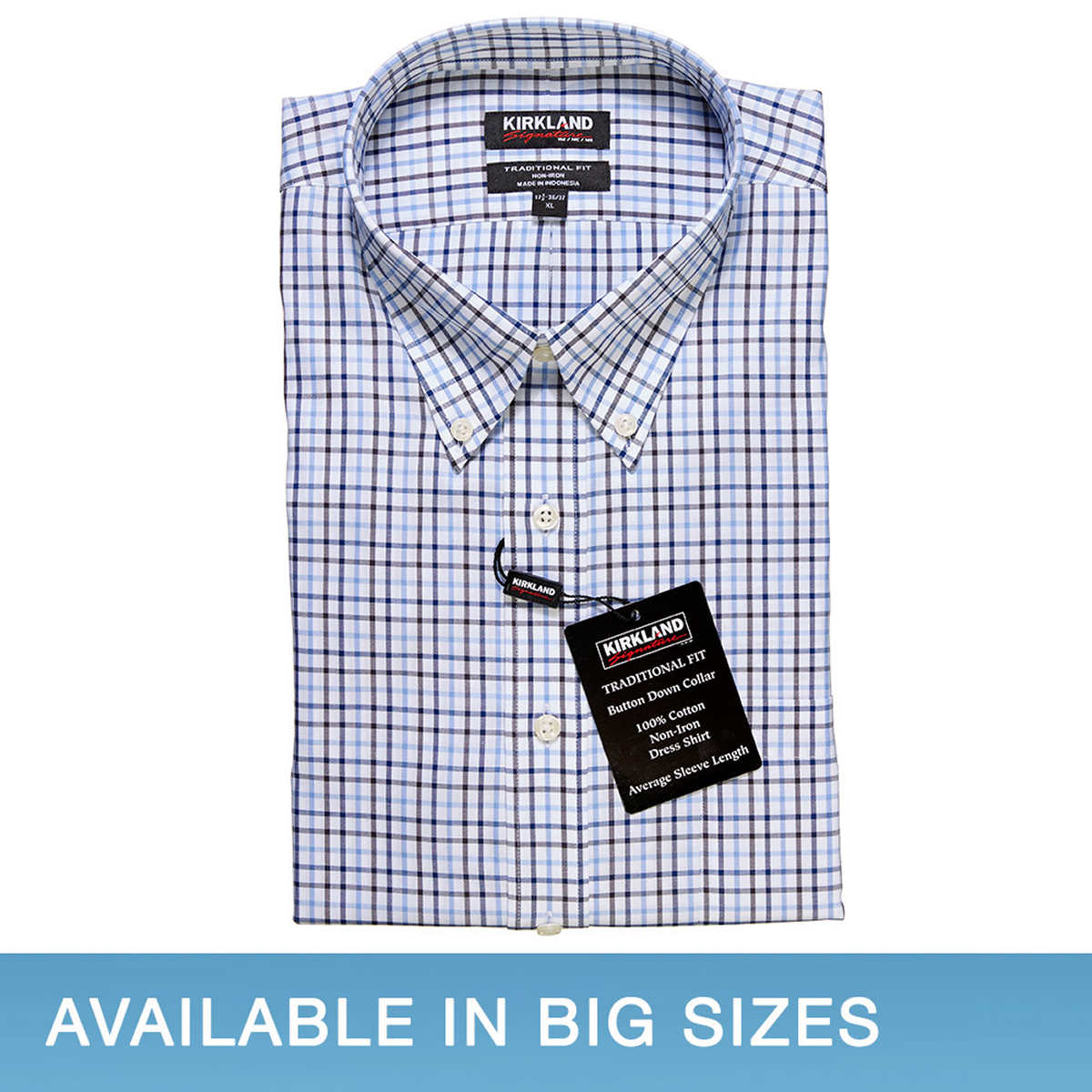 Tommy Hilffiger (Costco) blue 100% cotton shirt. Tommy