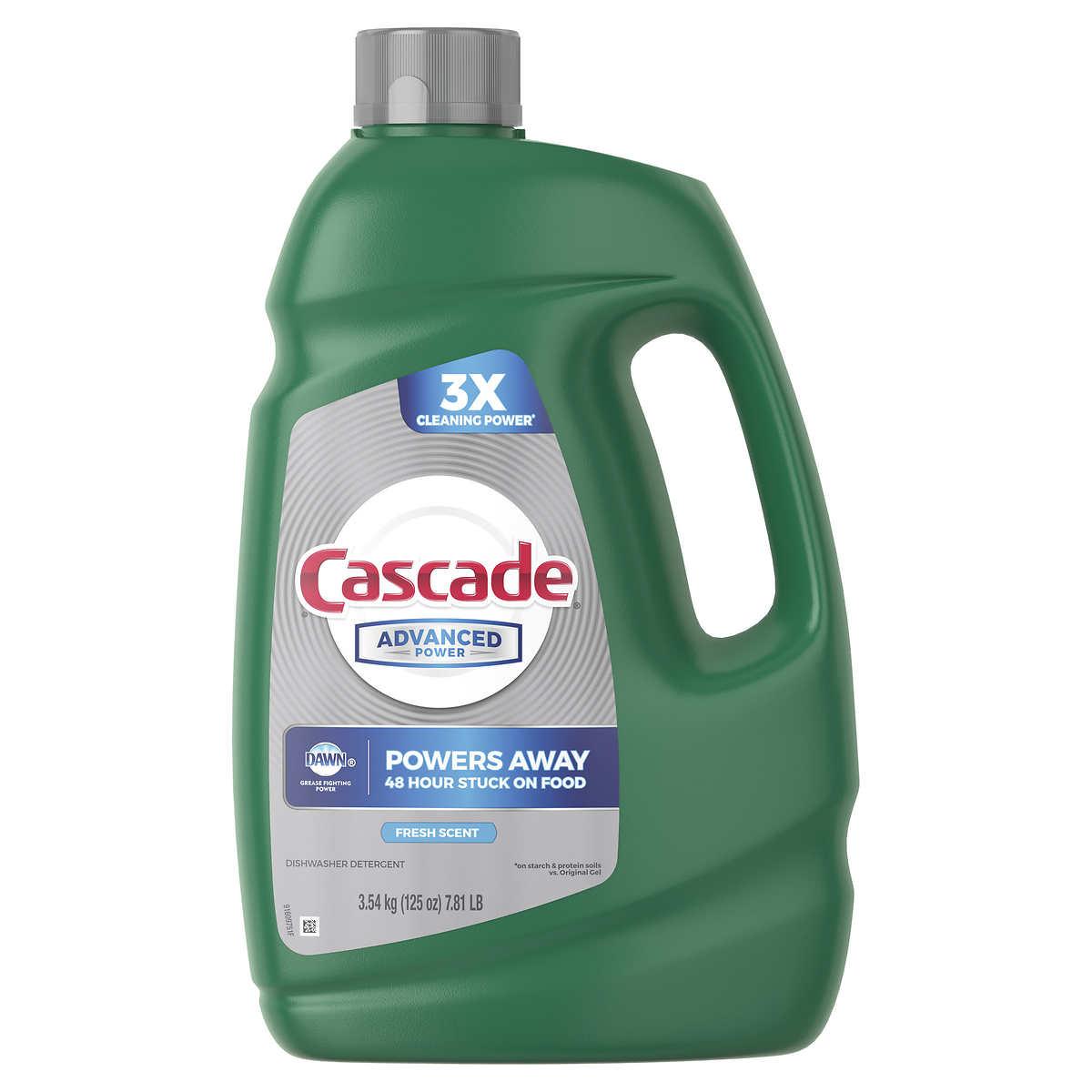 Cascade Advanced Power Liquid Dishwasher Detergent, Fresh Scent, 125 fl oz