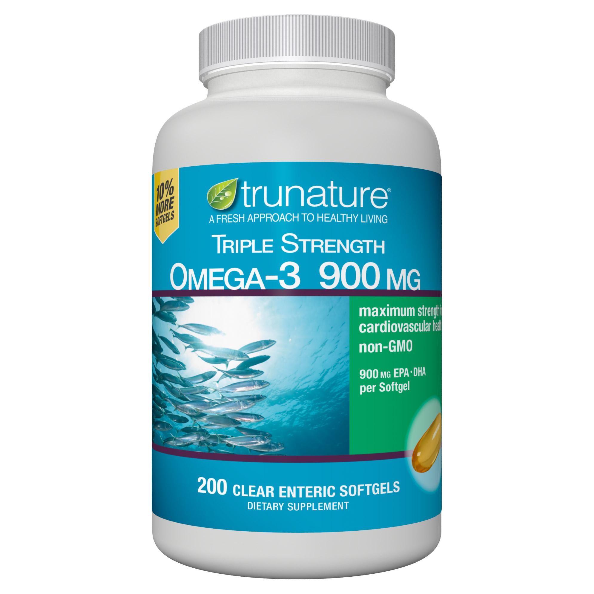 trunature Triple Strength Omega-3 900 mg., 200 Softgels