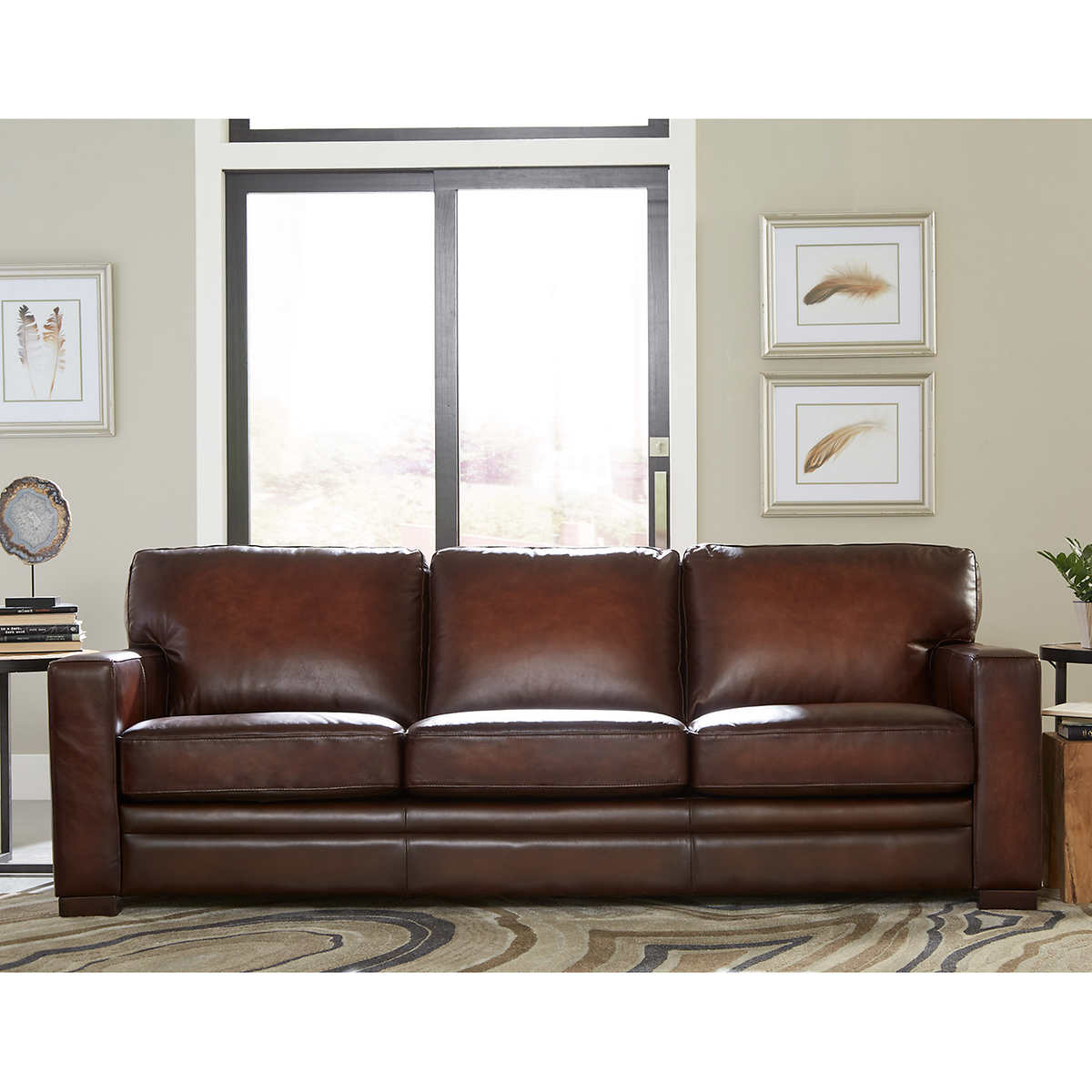Luca Top Grain Leather Sofa