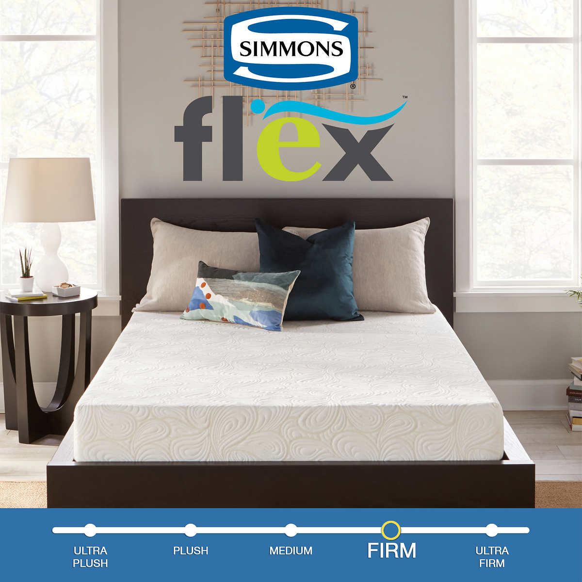 "Simmons Flex 7.25"" Twin Gel Memory Foam Mattress"
