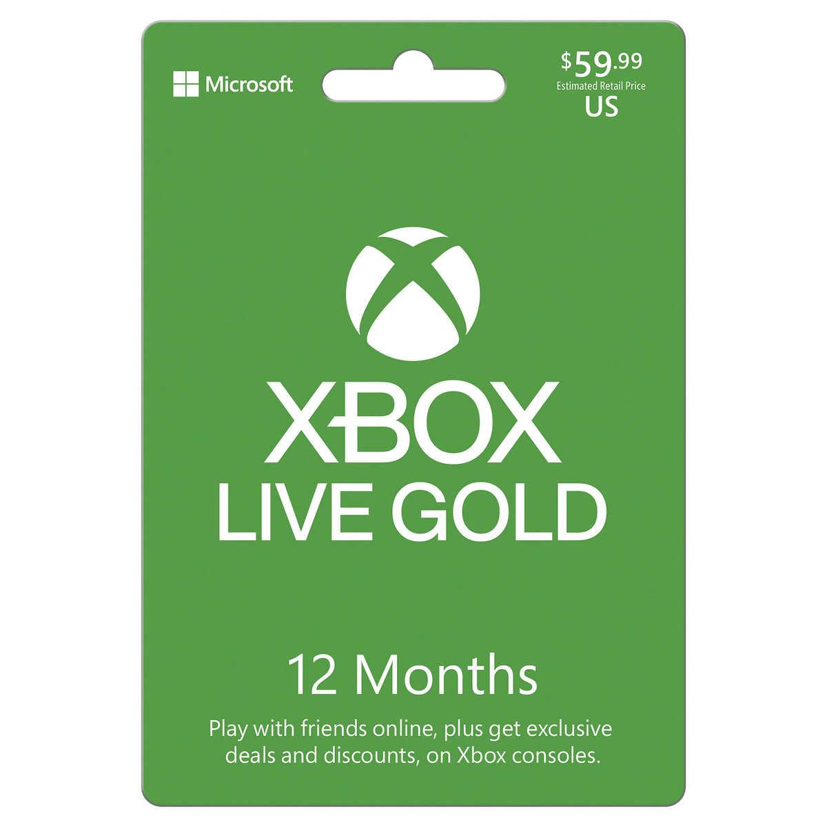 XBOX Live 12-Month Gold Membership Digital Download