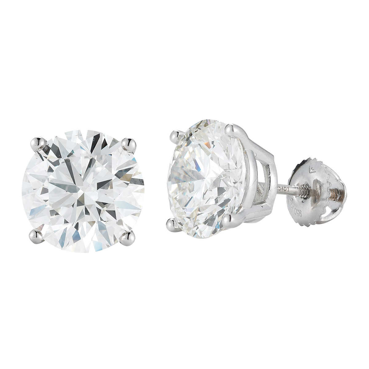 a15343cd4 Round Brilliant 1.80 ctw VS2 Clarity, I Color Diamond 14kt White Gold  Screwback Stud Earrings