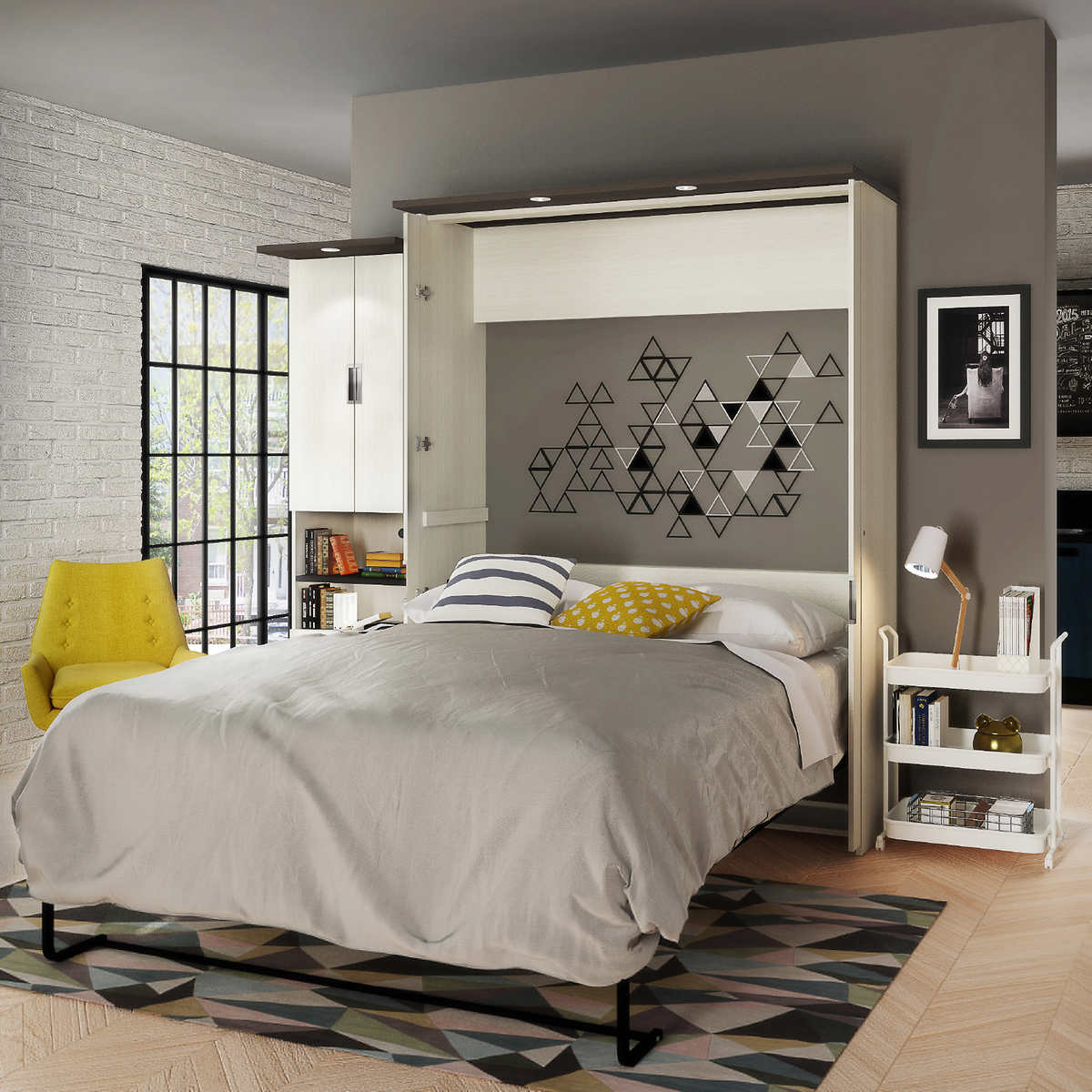Wall queen bed image collections home wall decoration ideas lumina queen wall bed with desk and storage unit click to zoom amipublicfo image collections amipublicfo Image collections