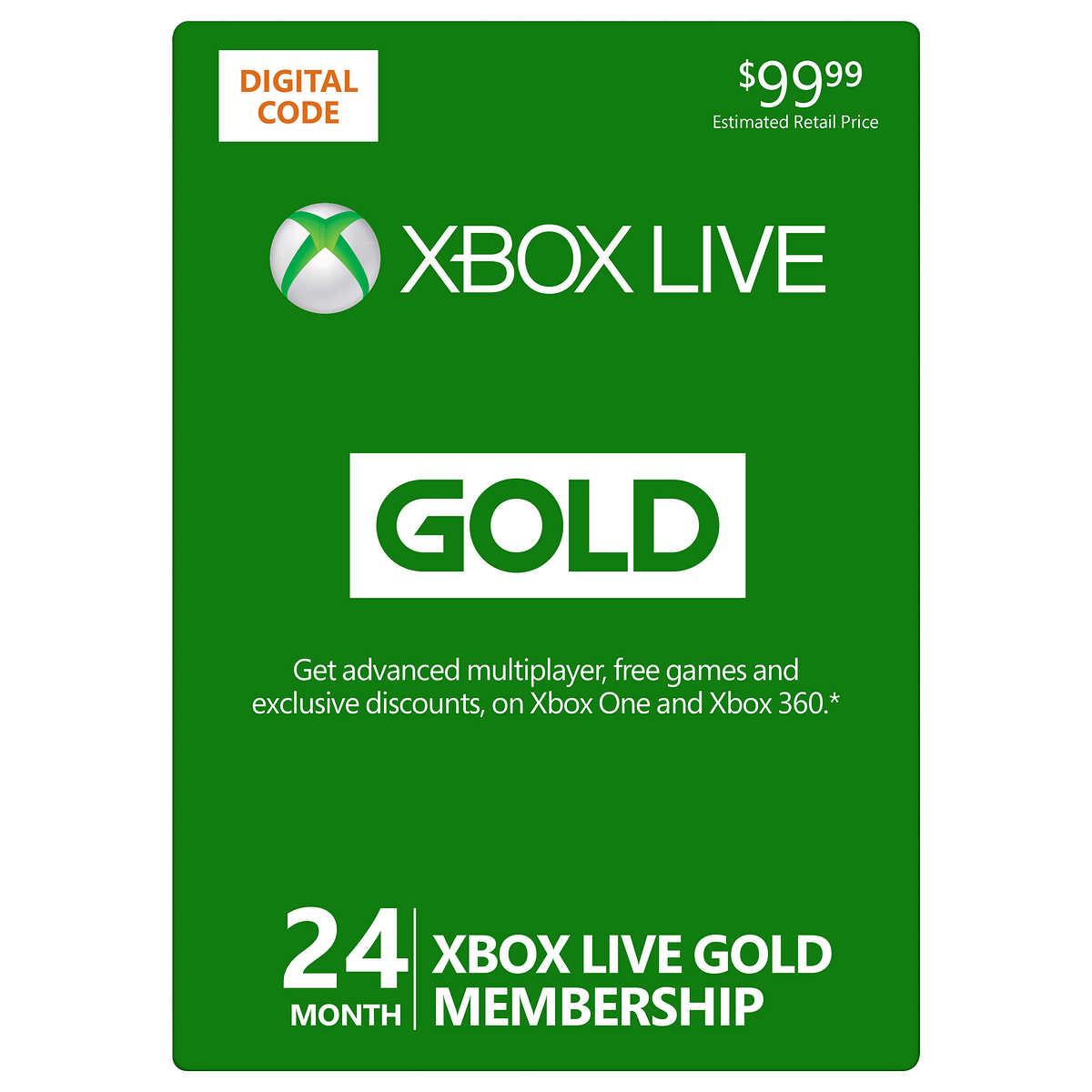 XBOX Live 24-Month Gold Membership Digital Download