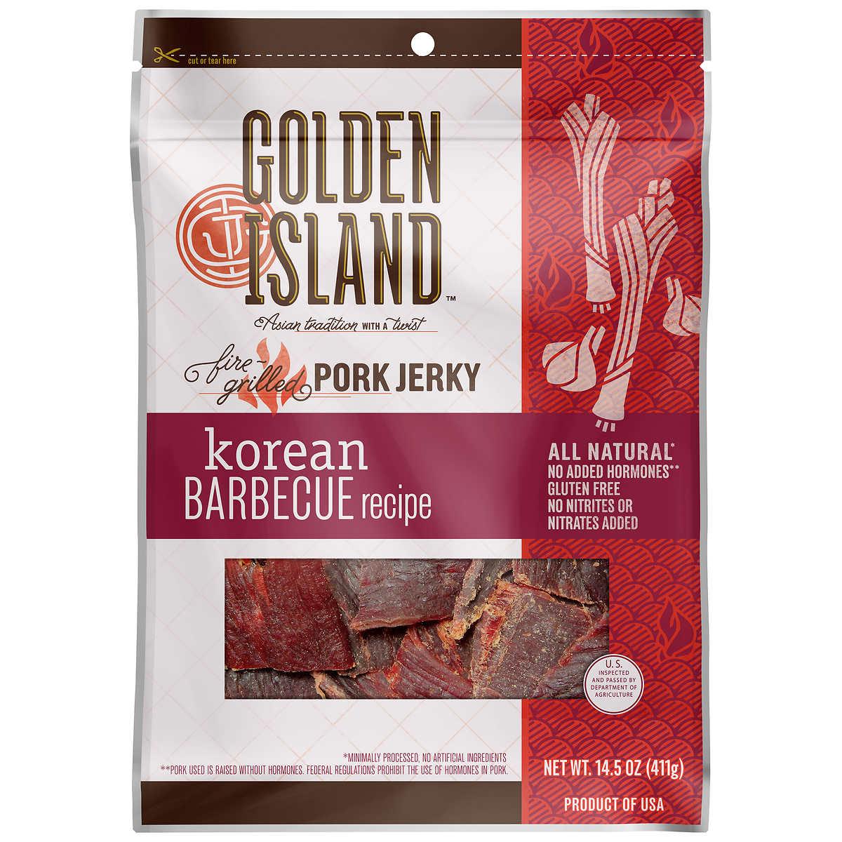 Golden Island Korean Barbecue Pork Jerky 14 5 Oz