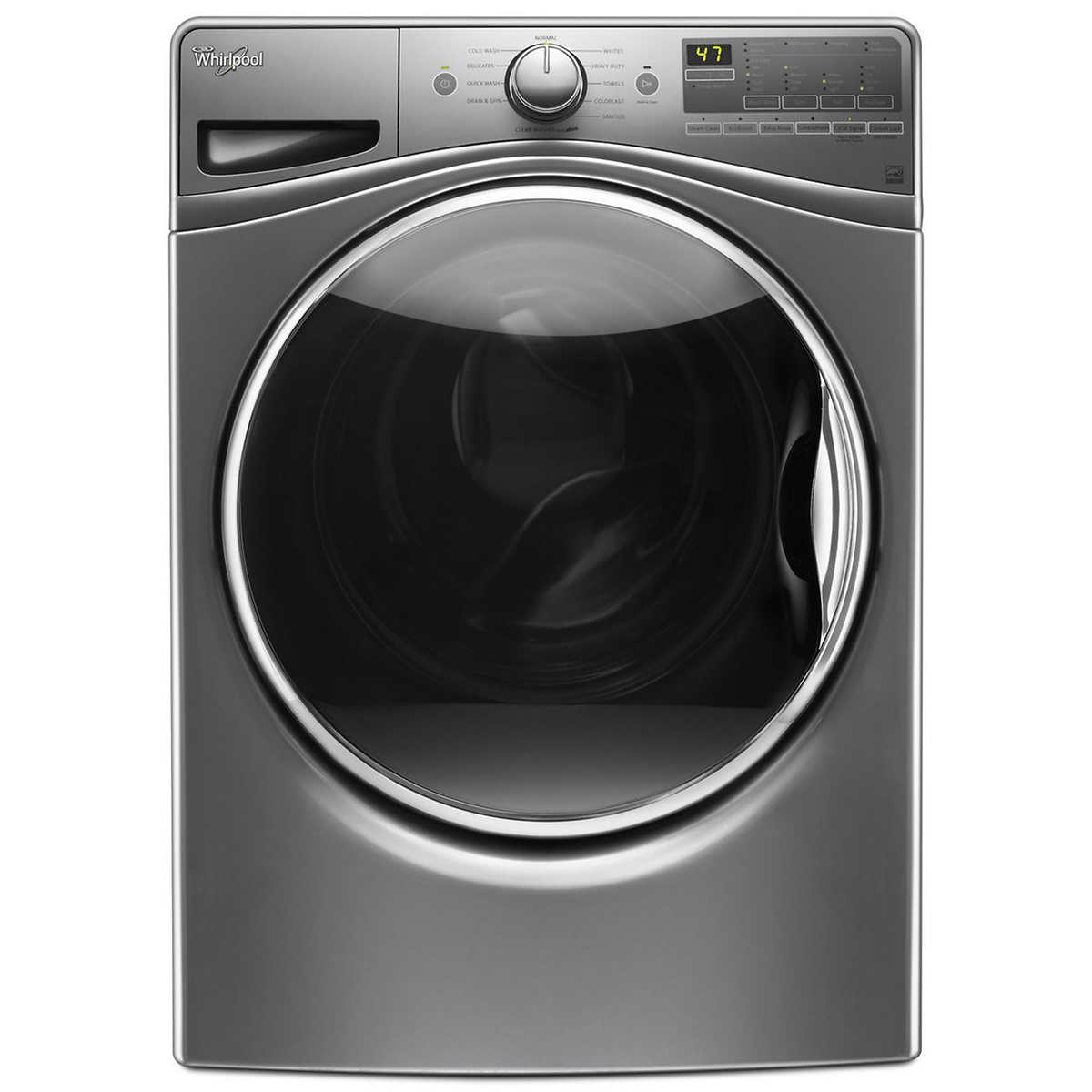 Samsung 5.0CuFt Front Load Washer with Self Clean + in Black Stainless Steel