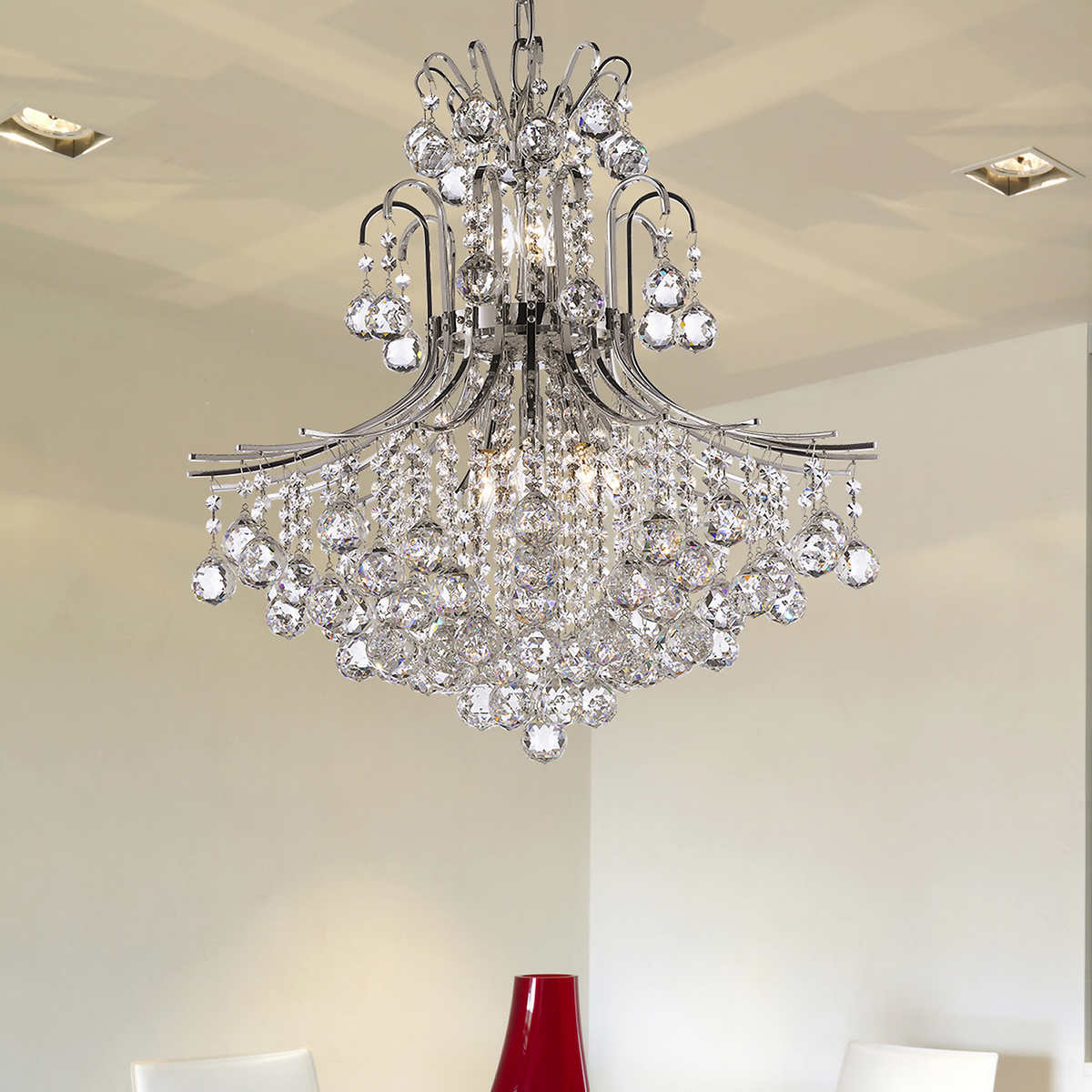 Lighting by pecaso charlotte chandelier in gold or chrome member only item arubaitofo Image collections
