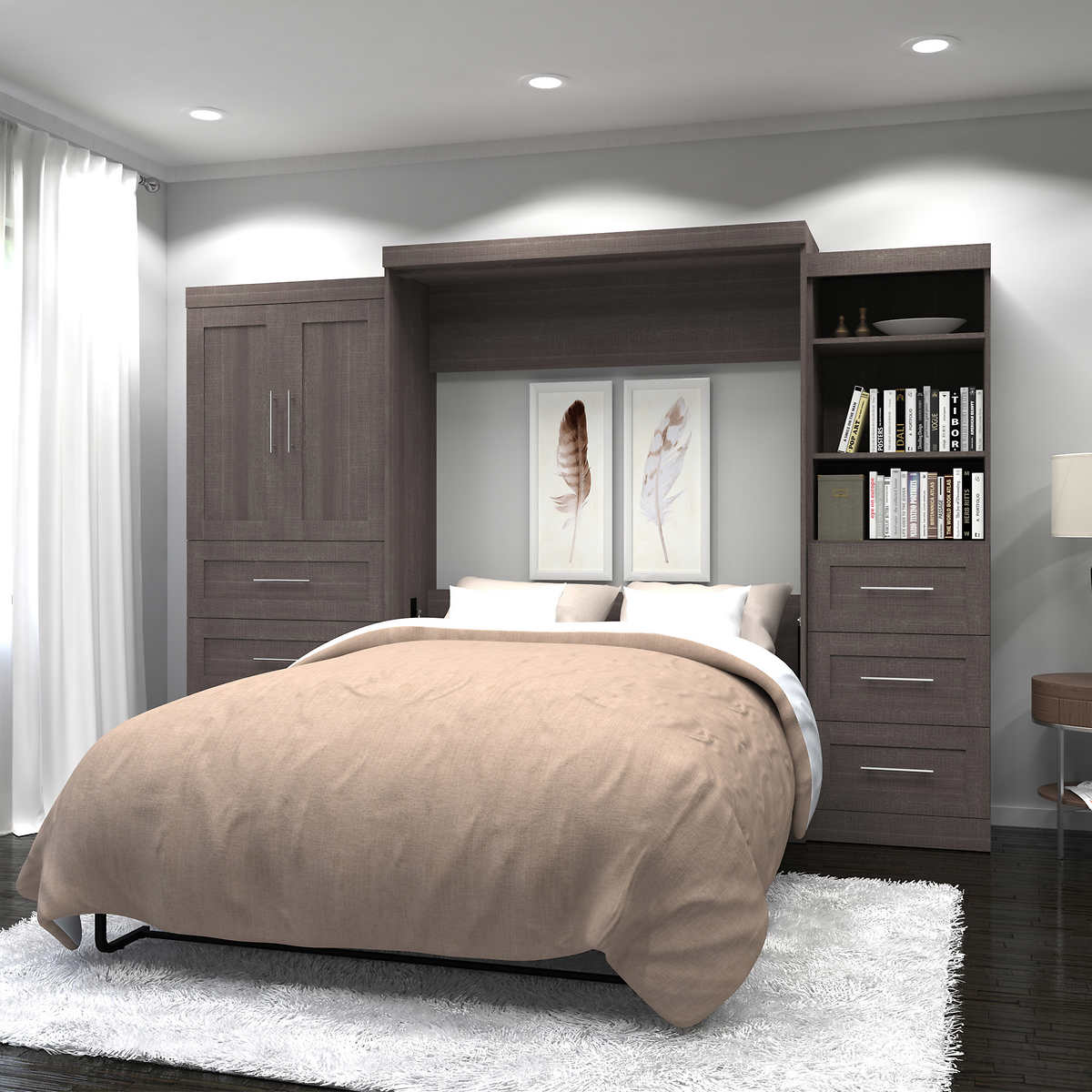 Lumina queen wall bed with desk and storage unit member only item amipublicfo Gallery