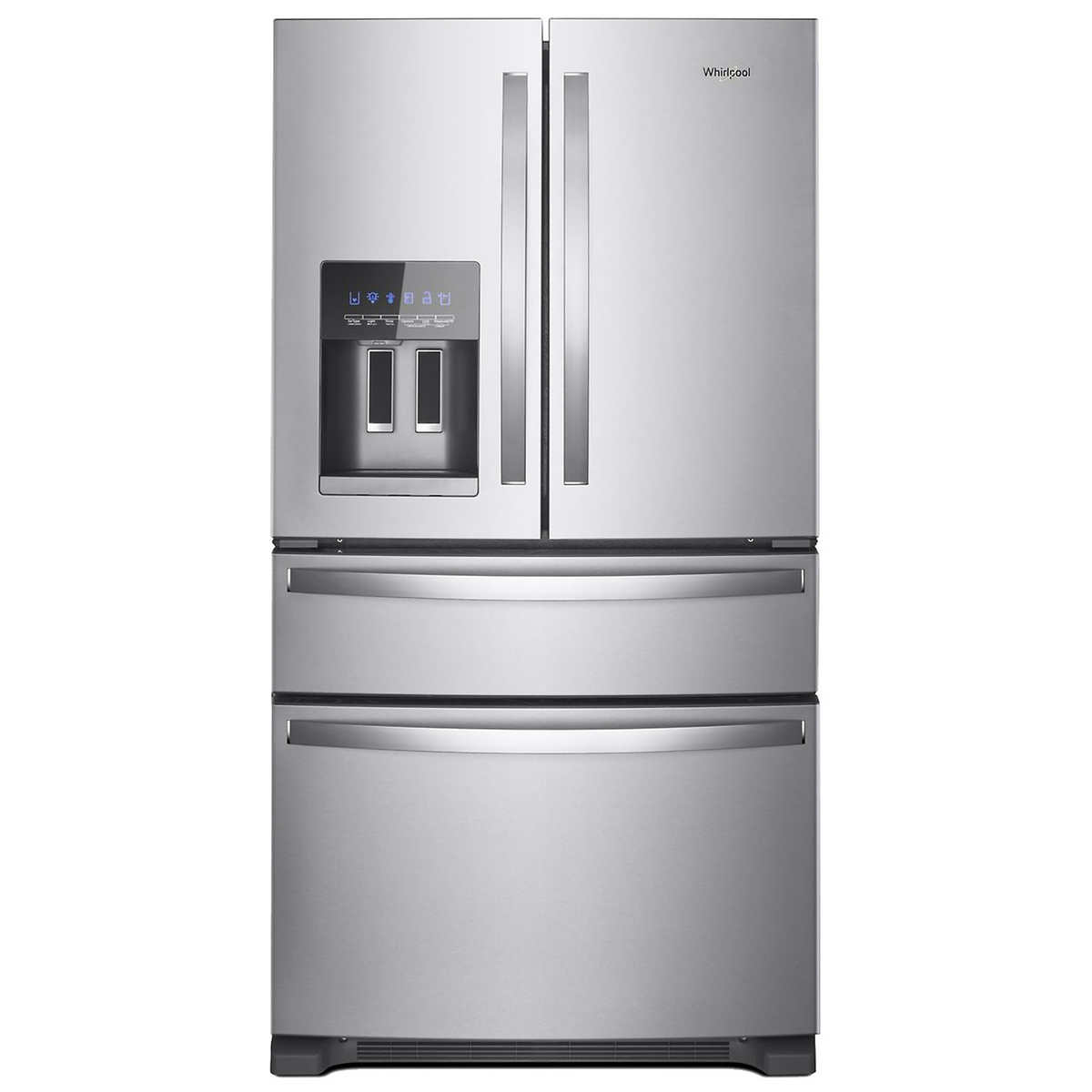 Whirlpool 25cuft 36 inch wide french door refrigerator with 1 1 rubansaba