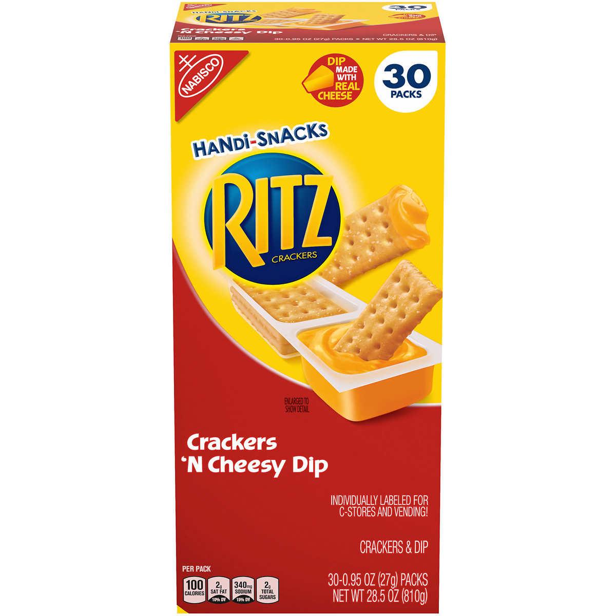 Ritz Crackers Handi-Snacks, Crackers 'N Cheese Dip, 0 95 oz, 30-count