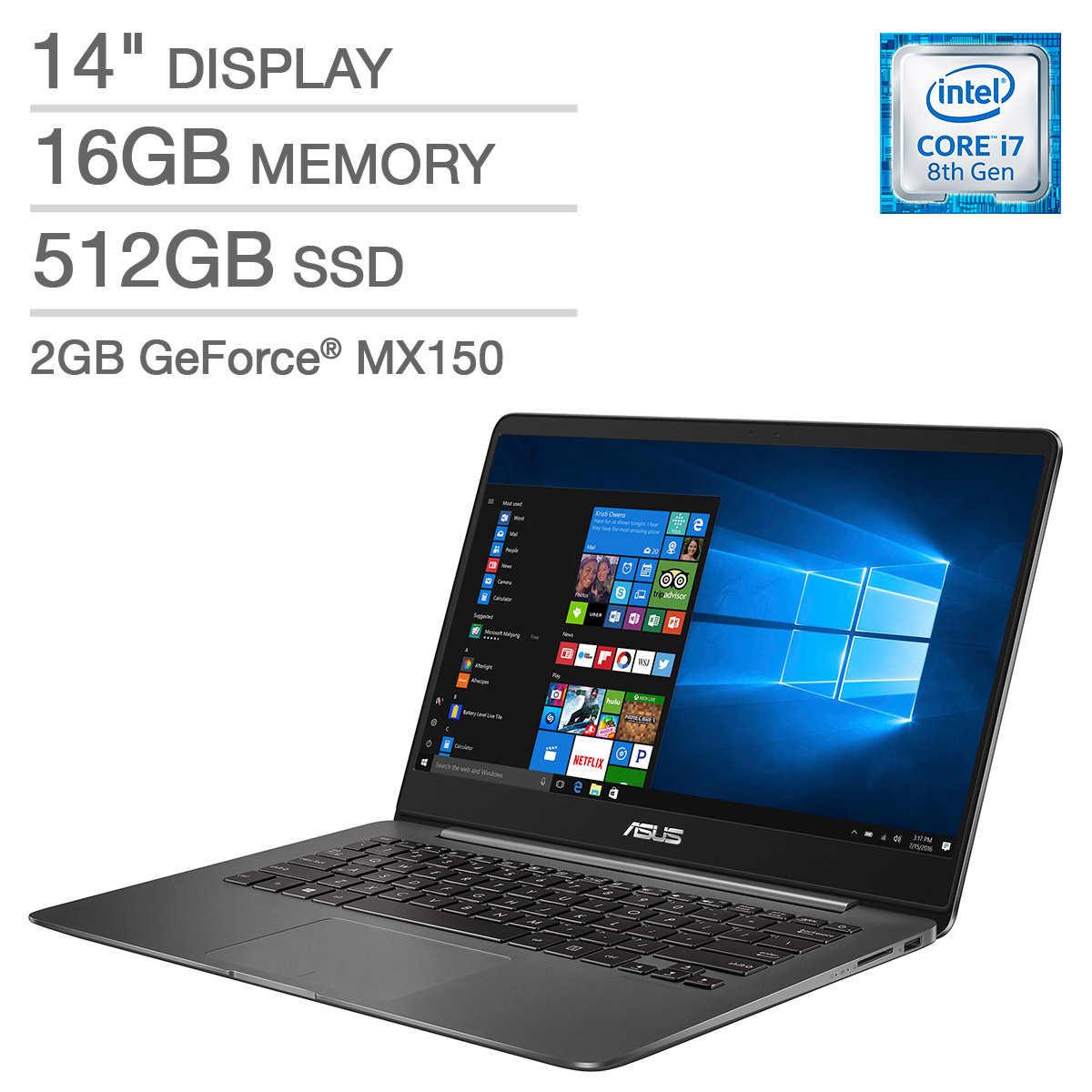 ASUS ZenBook UX430UN Laptop - Intel Core i7 - GeForce MX150 -1080p