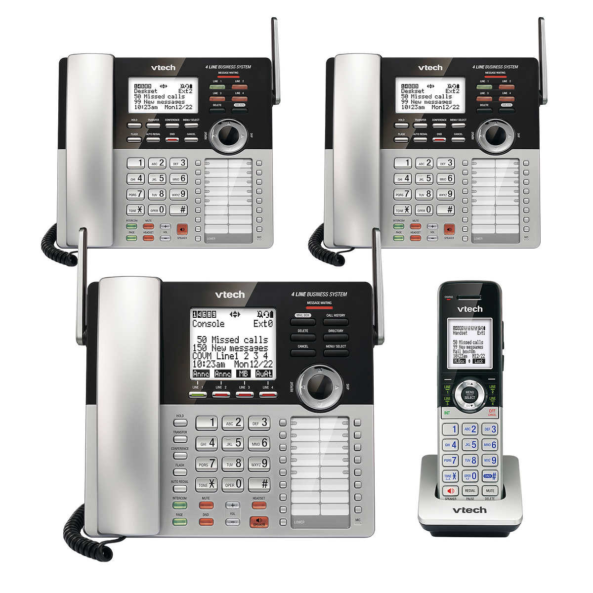 Details about VTech 4-Line Small Business Phone System Office Bundle