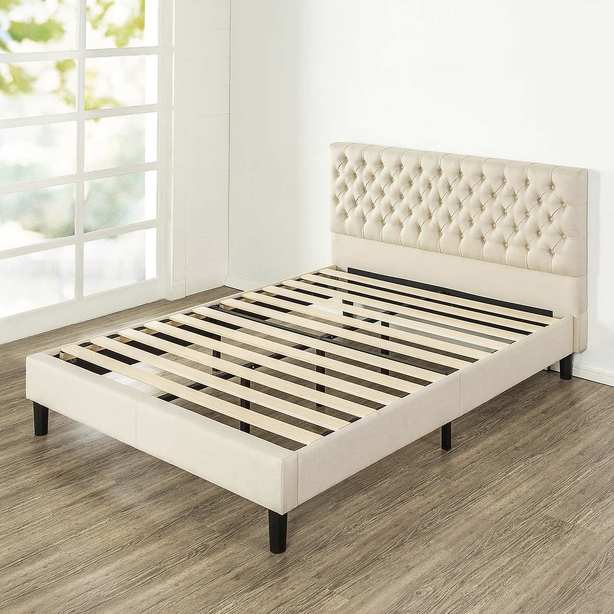 upholstered platform product white br bed belcourt king beds arch pc