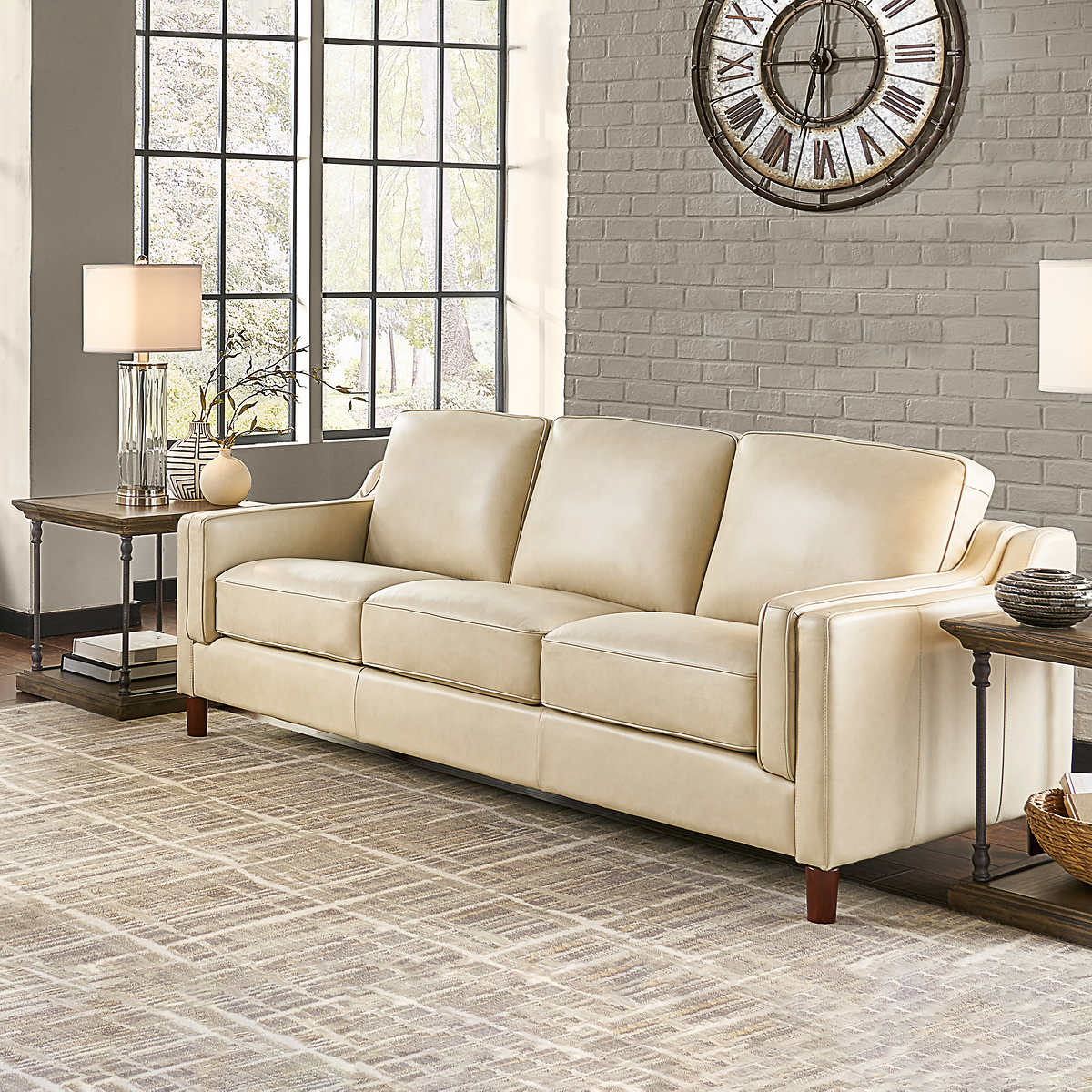 Dobson Leather Sofa