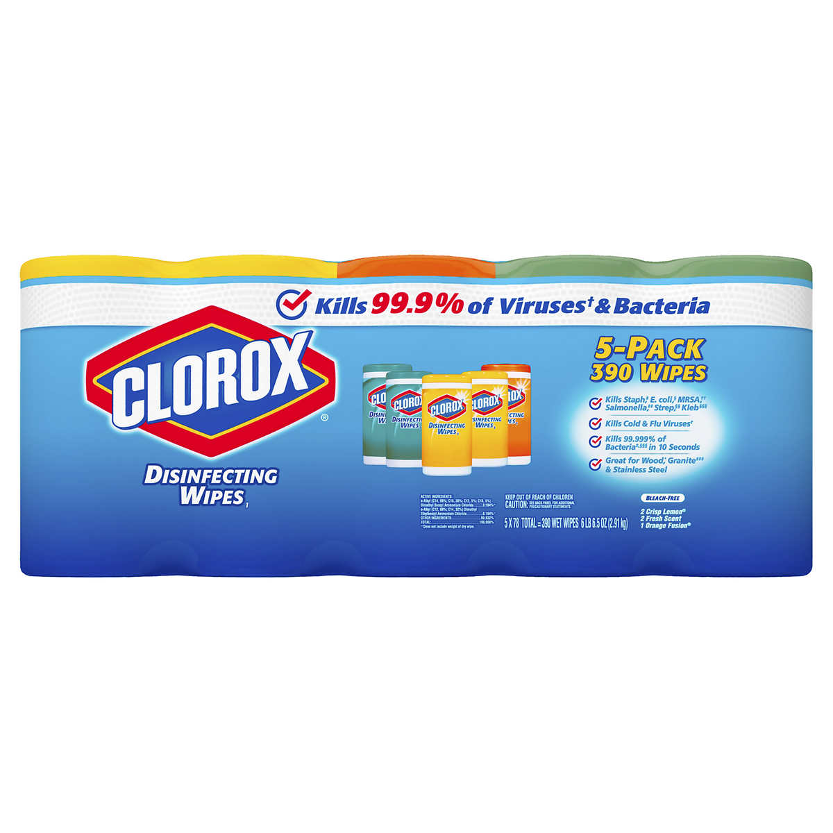Clorox Disinfecting Wipes, Variety Pack, 78-count, 5-pack