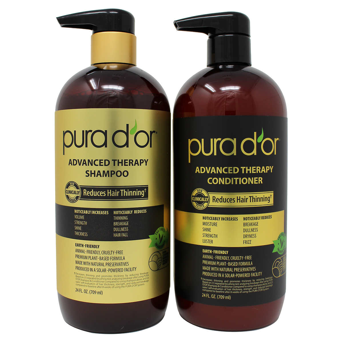 a943fe0803 PURA D'OR Advanced Therapy System Shampoo & Conditioner Bundle