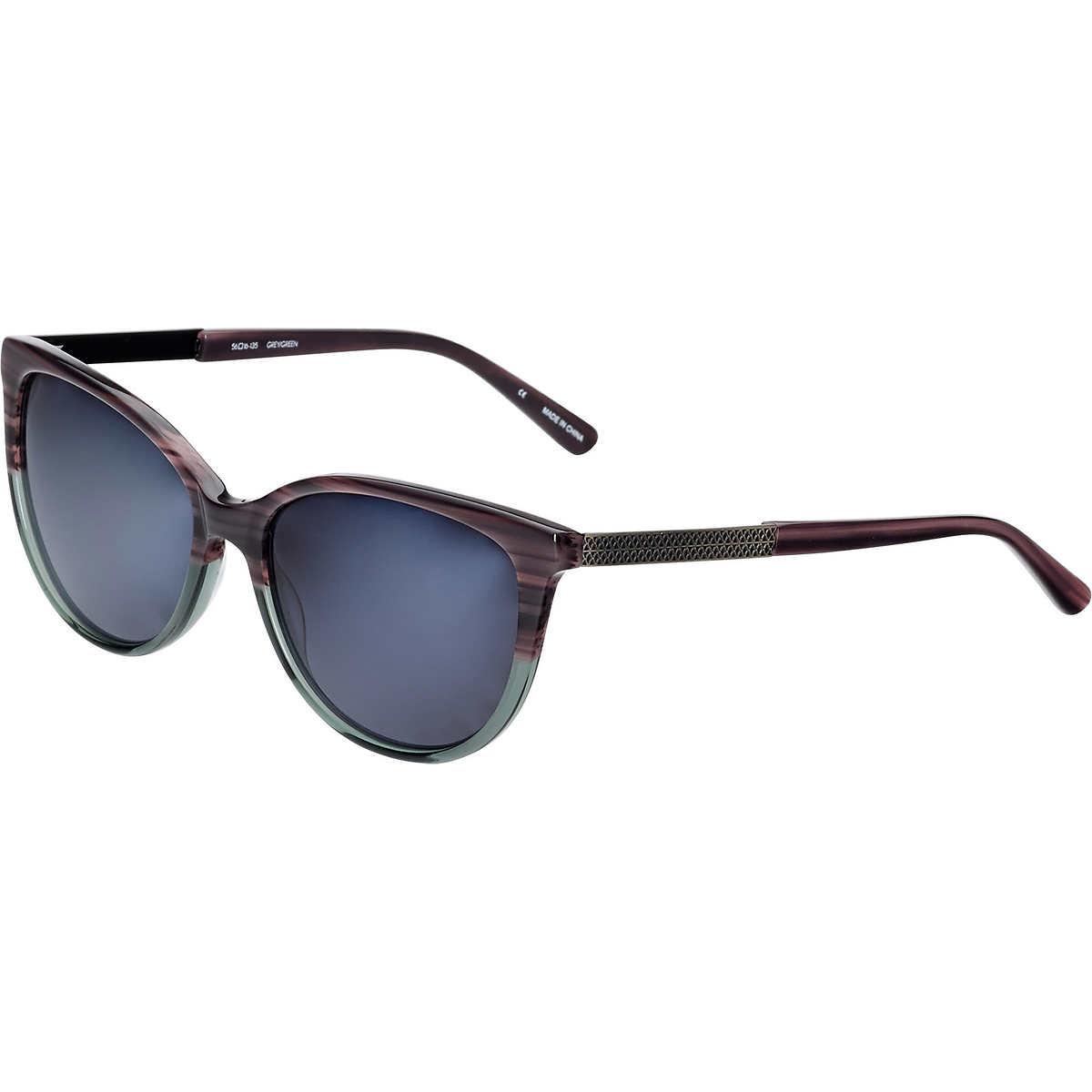 942bce0d7bb Karen Kane Lovechain Gray Green Polarized Sunglasses