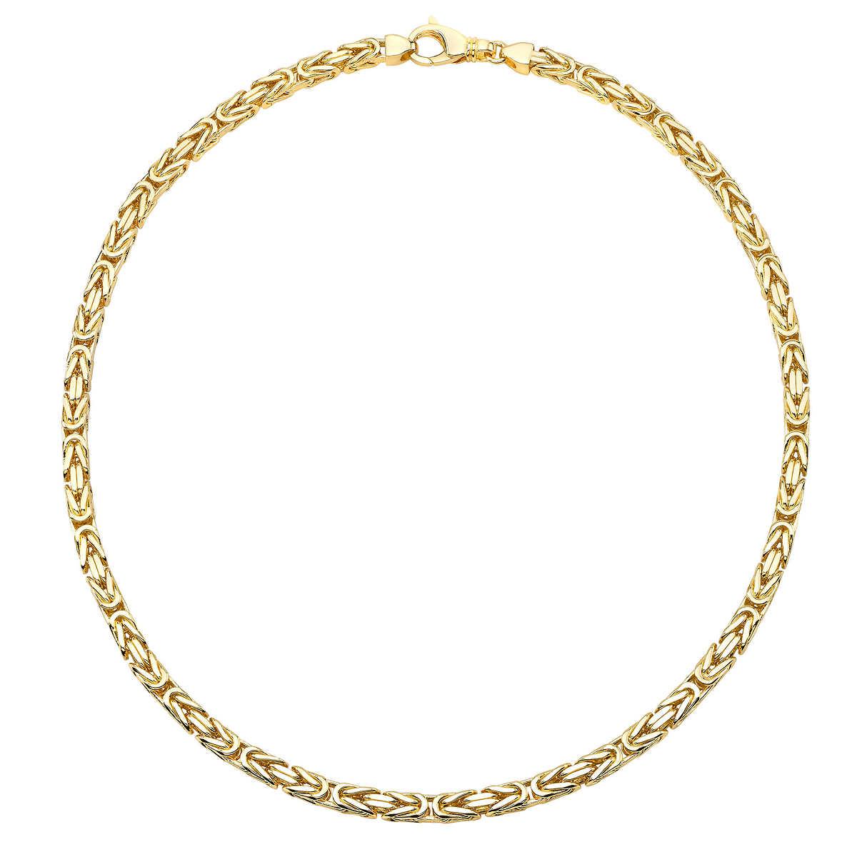 a175535813773 14kt Yellow Gold Byzantine 22