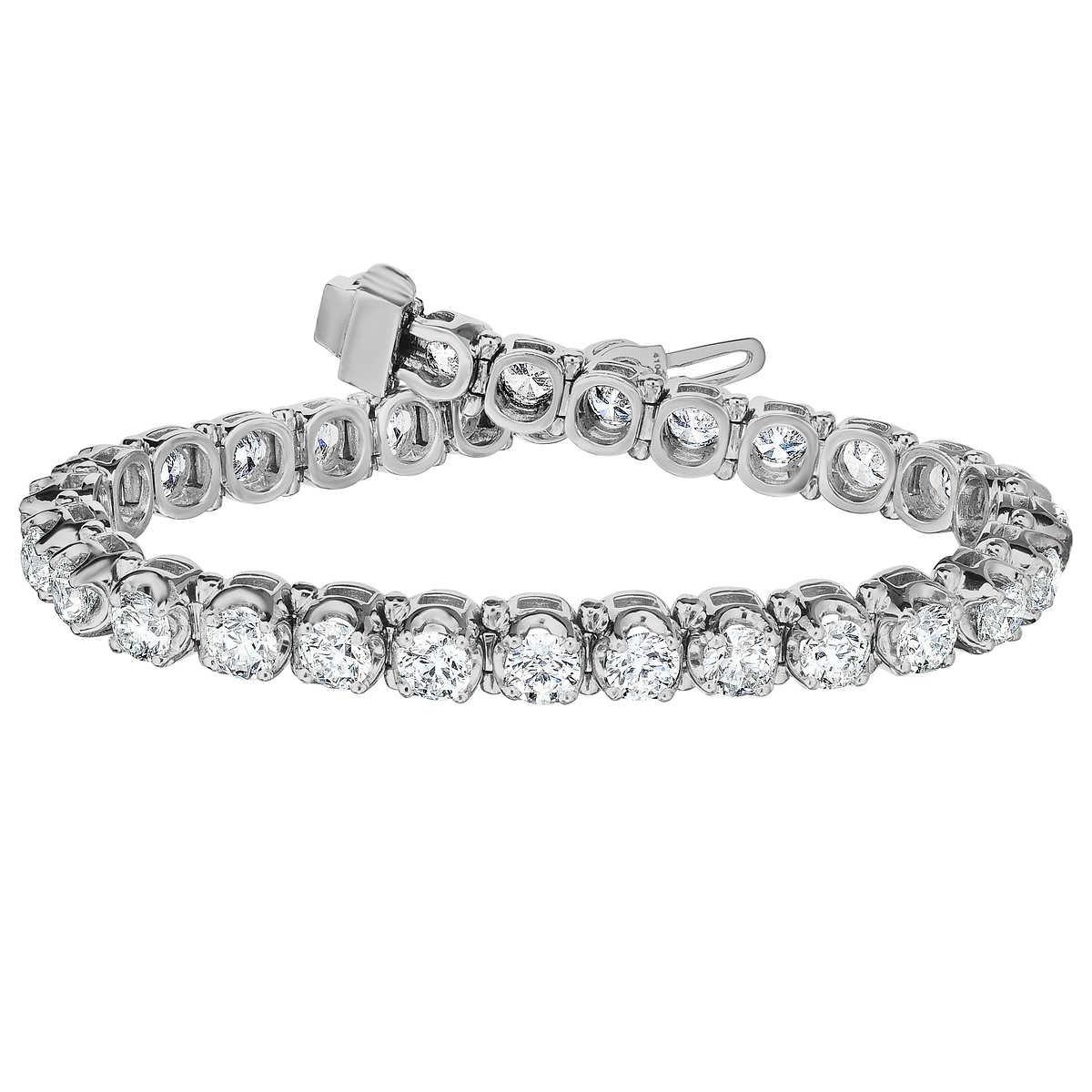 bc00b7b6b ... Round Brilliant 12.00 ctw VS2 Clarity, G Color Diamond Platinum  Bracelet. 1 1