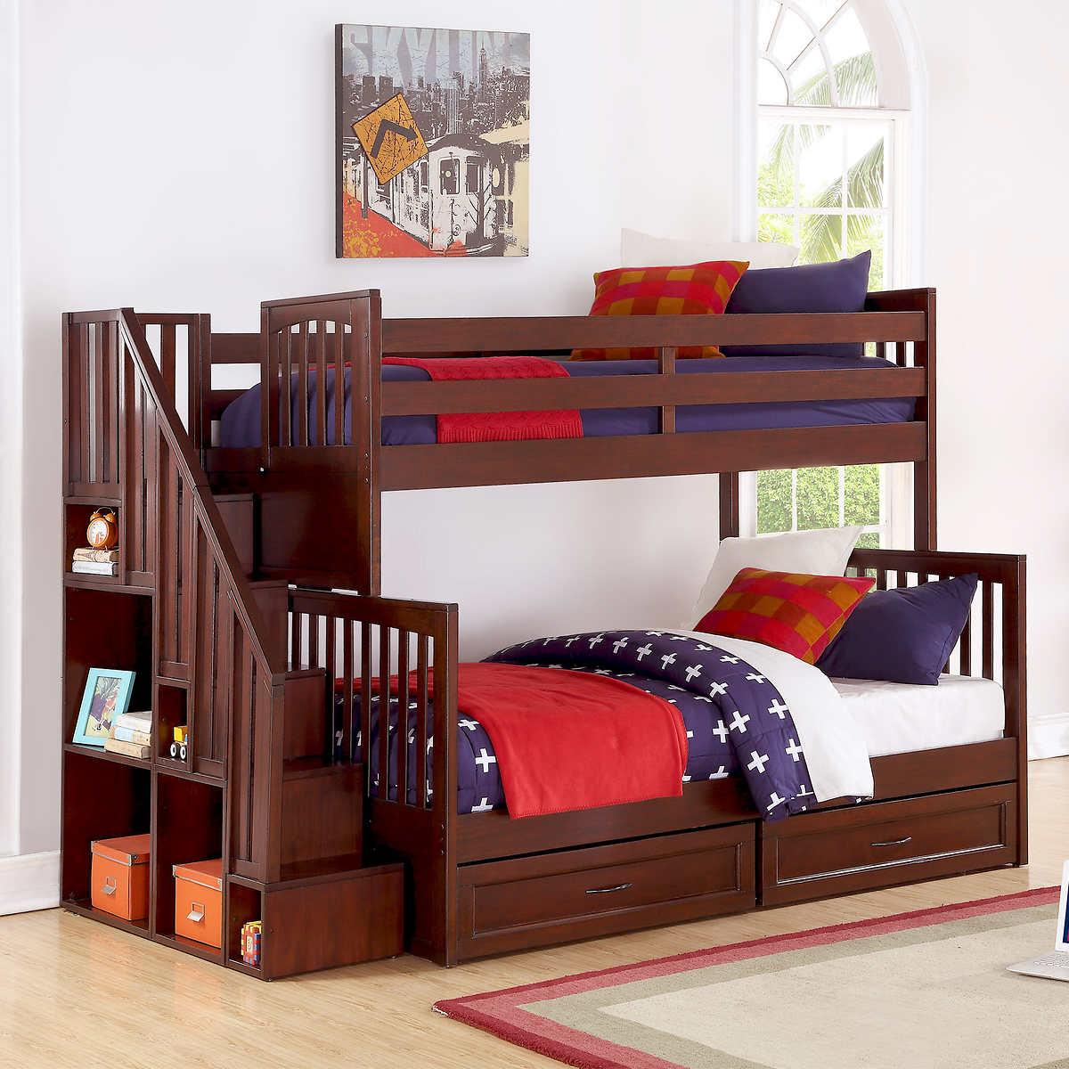 detailing 29e5f 13470 Caramia Kids Noah Twin over Full Staircase Bunk
