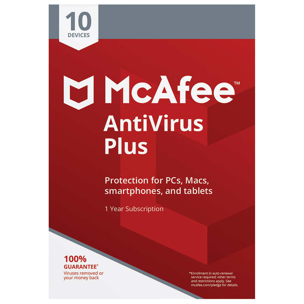 McAfee 2019 Antivirus Plus (10 Devices, Product Key Card, 1-Year  Subscription)