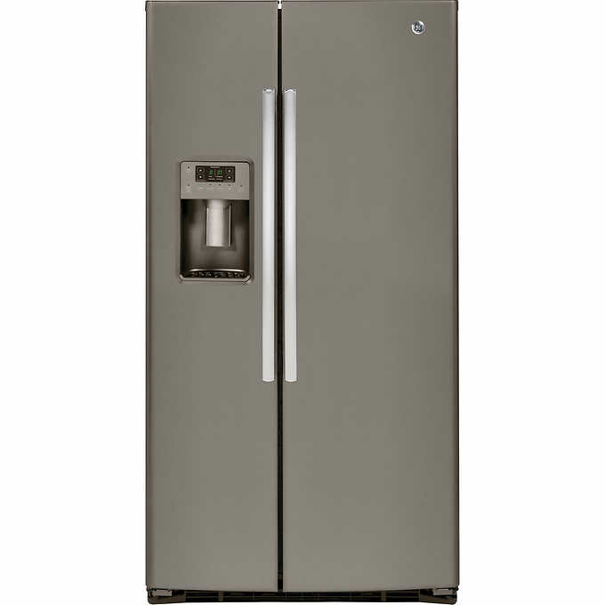 GE 25 4CuFt Side-By-Side Refrigerator with LED Lighting