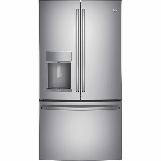 GE Profile 27 8CuFt French-Door Refrigerator with Hands