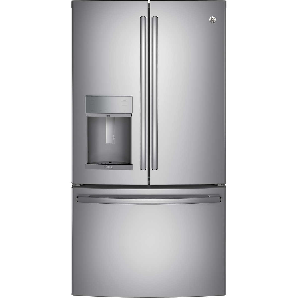 Ge profile 222cuft counter depth french door refrigerator with counter depth french door refrigerator with hands free autofill stainlesssteel 1 stainlesssteel 1 rubansaba