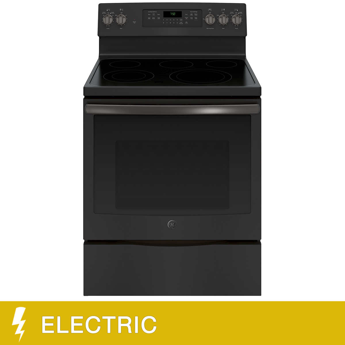 Ge 53cuft Free Standing Single Oven Electric Range With