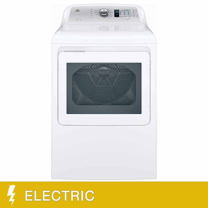 GE 7 4 CuFt Aluminized Alloy Drum Electric Dryer with HE