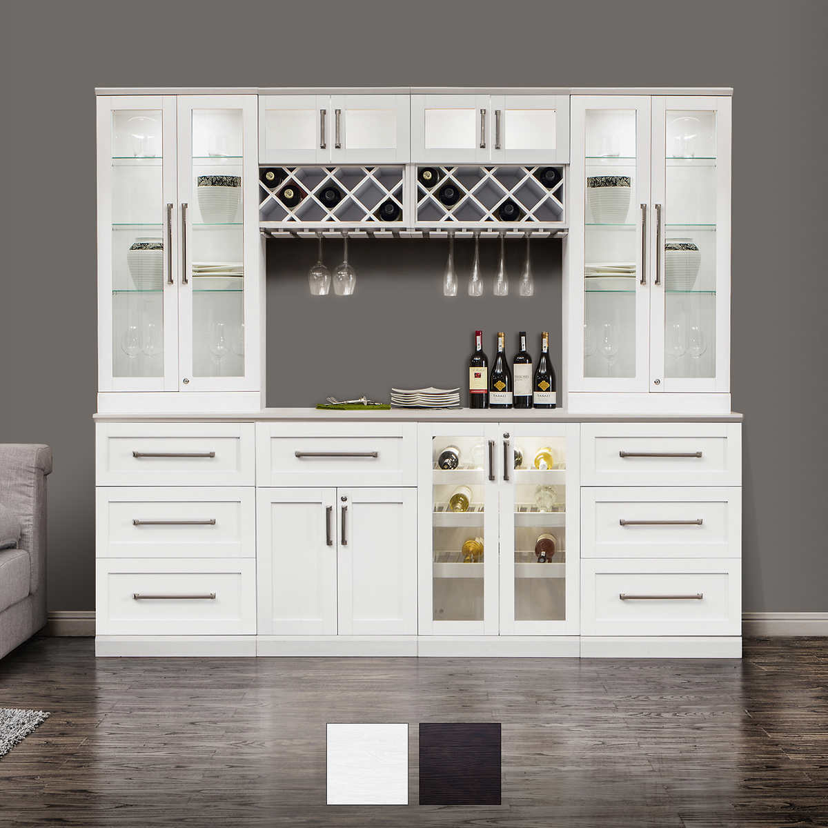 Home Wine Bar 7-piece Cabinetry Set by NewAge Products