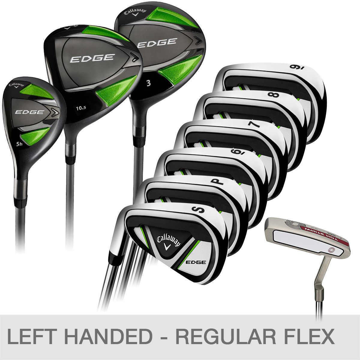 Callaway Golf Clubs >> Callaway Edge 10 Piece Golf Club Set Left Handed
