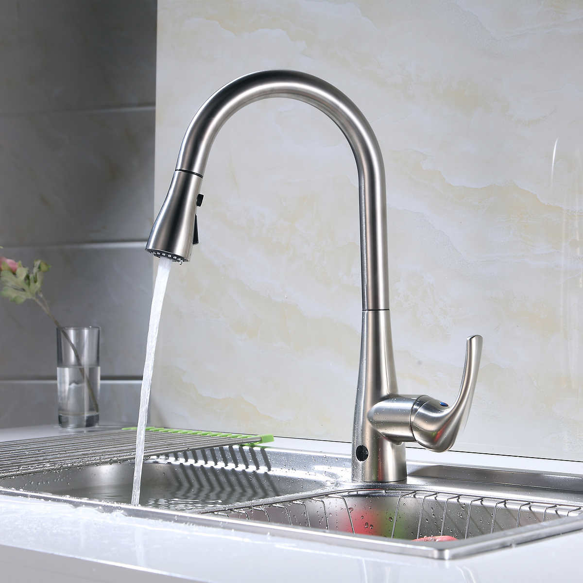 Flow Motion Activated Pull-Down Kitchen Faucet