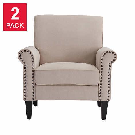 Monroe Fabric Club Chair 2-pack - 3947689 , 100385817 , 454_100385817 , 501.99 , Monroe-Fabric-Club-Chair-2-pack-454_100385817 , usexpress.vn , Monroe Fabric Club Chair 2-pack