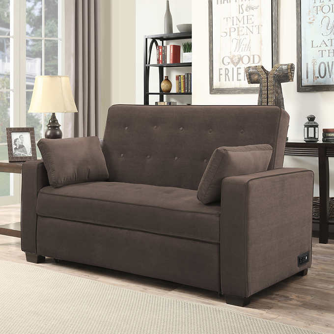Sleeper Sofa.Westport Beautyrest Fabric Sleeper Sofa