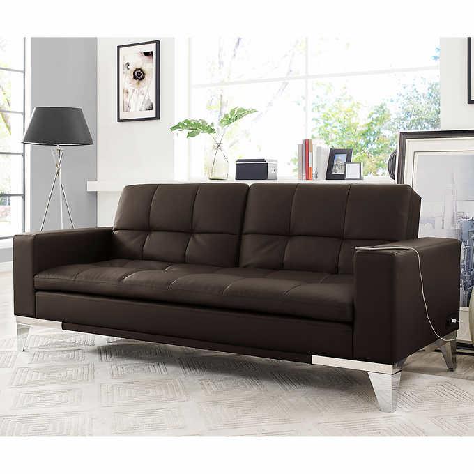 Pleasing Brooklyn Beautyrest Bonded Leather Euro Lounger Creativecarmelina Interior Chair Design Creativecarmelinacom