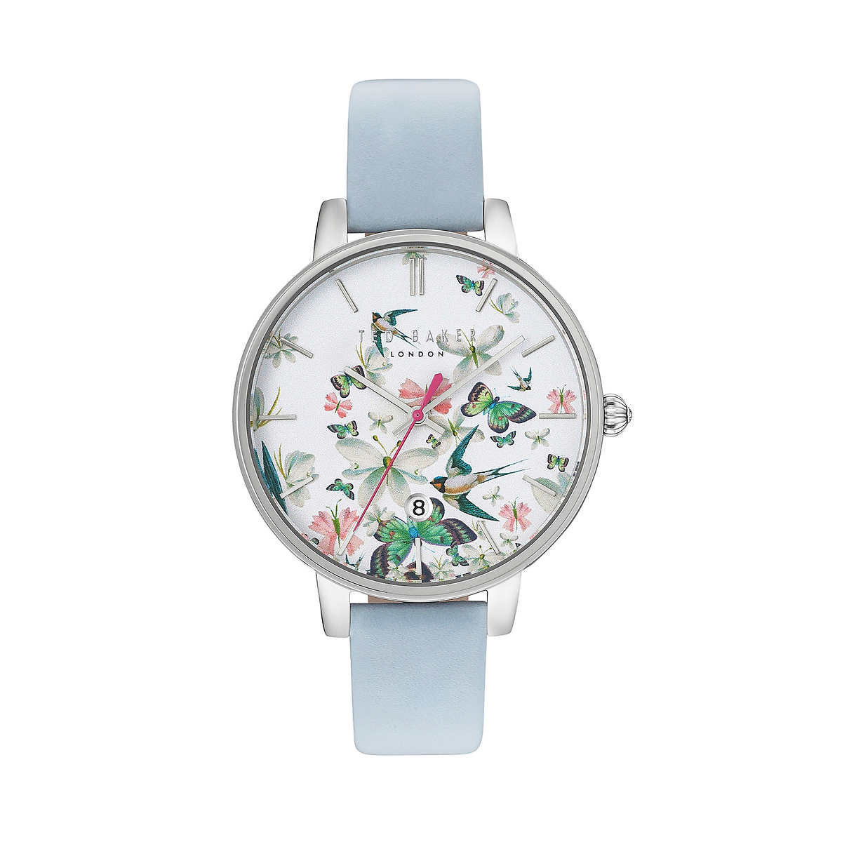 bf7e3cfbe Ted Baker Blue Leather Strap Butterfly Women s Watch