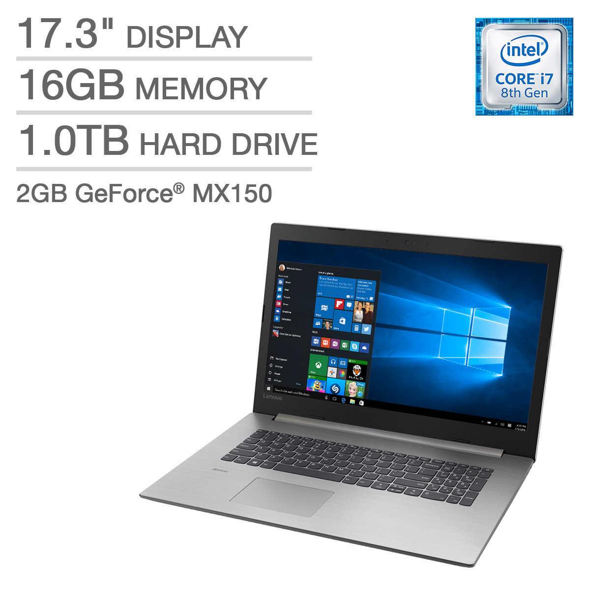 Lenovo Ideapad 330 17 Laptop - Intel Core i7 - GeForce MX150