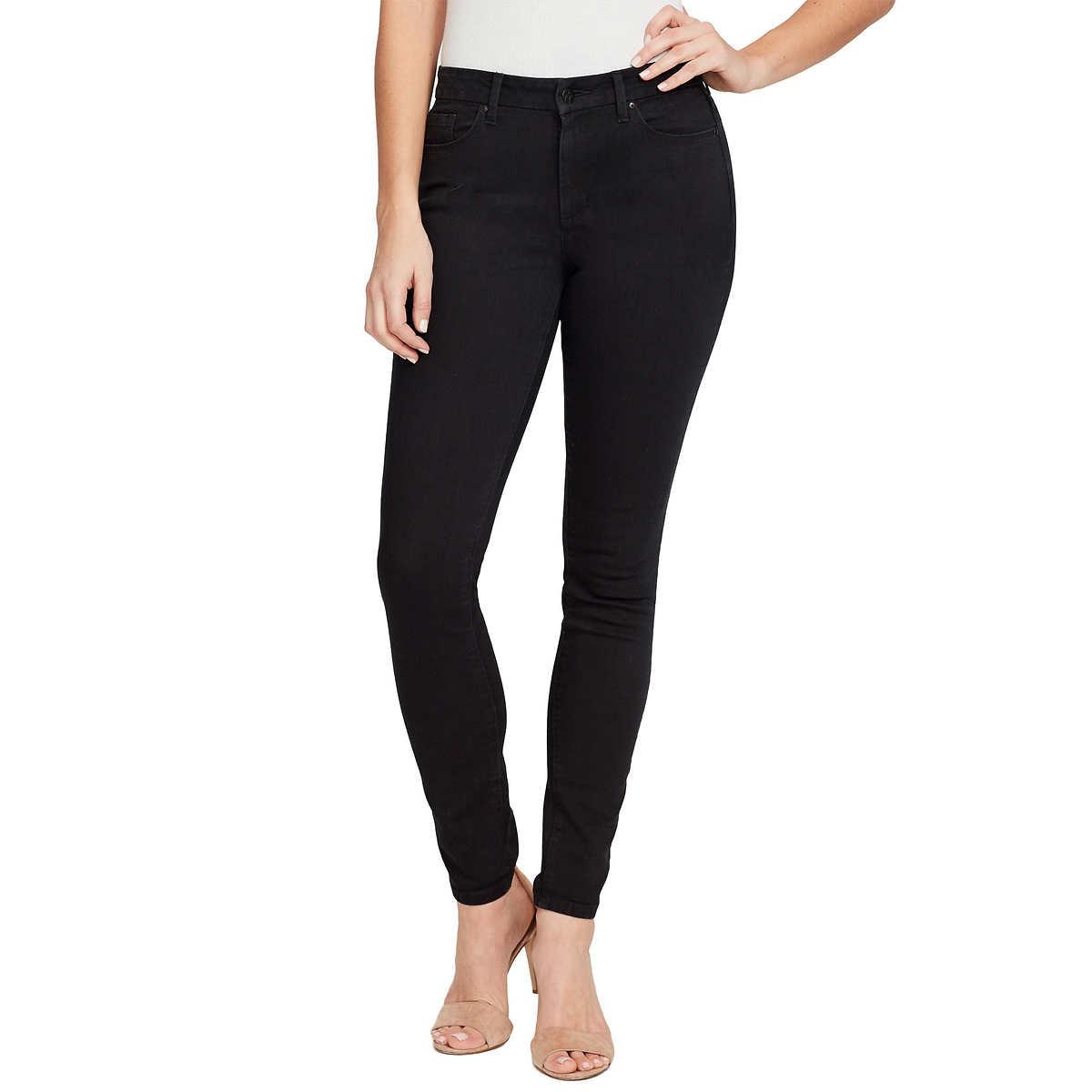 72d1c6b0935 ... Ladies' High Rise Skinny Jean. black 1 black 1