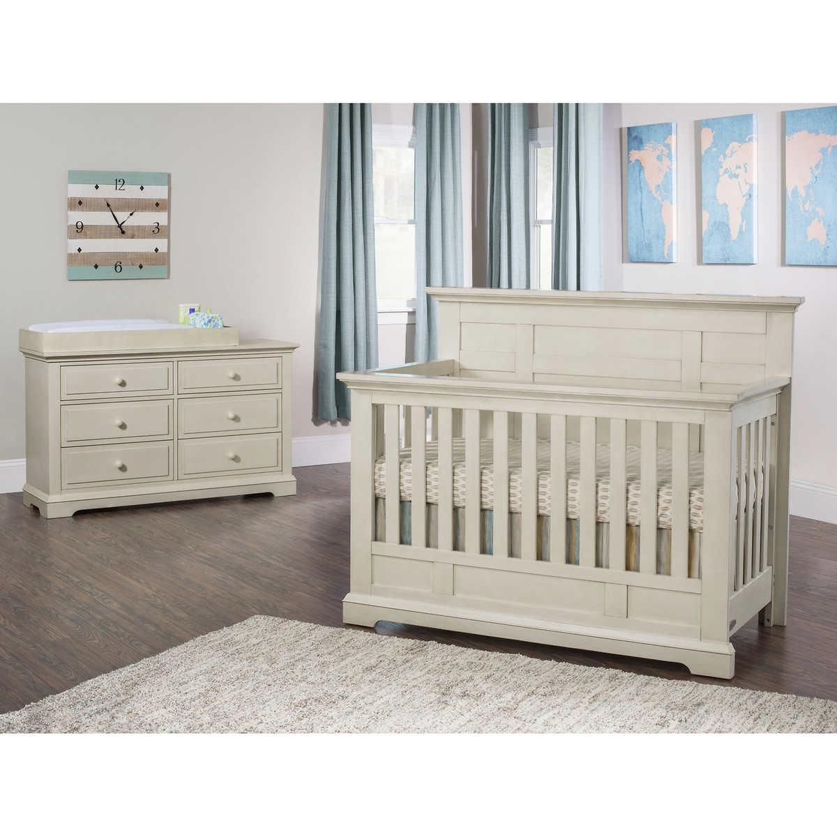 Addison flat top crib 2 piece nursery collection