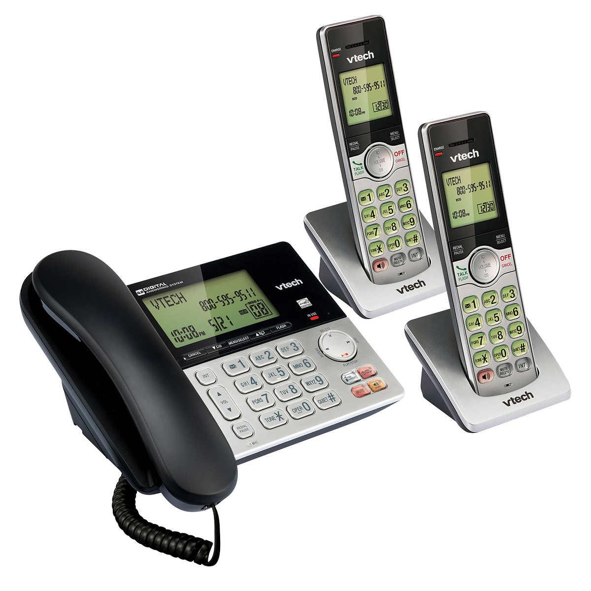 VTech CS6949-2 DECT 6.0 2 Handset Corded Cordless Phone